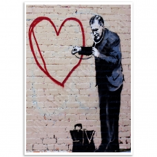 Street Art Poster - Peace Love Doctor